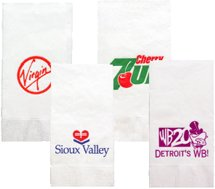 1-Ply White Dinner Napkin, 1/8 Fold