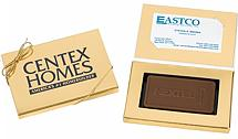 Chocolate Bars With Business Cards - Custom
