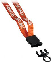 ".5"" Woven Screen-Printed Nylon Lanyard with Snap-Buckle Release"