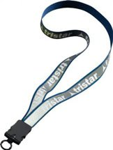 ".75"" Reflective Lanyard with Snap-Buckle Release"