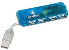 Mini USB Hubs, 4 Port with Indicator Light