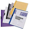 "Plastic Report Covers, Metallic Side Clip, 8-3/4"" x 11-1/2"""