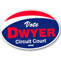 Political Magnetic Car Signs, Oval, 11-1/2 x 17