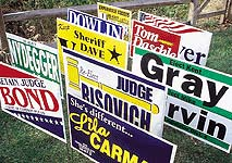 "Winningest Poly-Bag Yard Signs, Frame Included, 14"" x 20"""