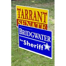 "Winningest Poly-Bag Yard Signs, Frame Included, 16"" x 26"""