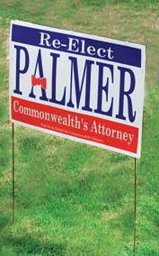 "Winningest Poly-Bag Yard Signs, Frame Included, 20"" x 32"""