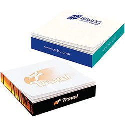 Post-it® Custom Printed Notes Slim-Cube,  110 Sheet, Full Color Sides 2-3/4 x 2-3/4 x 1/2