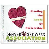 Seed Infused Note Cards, Heart, Lil' Bloomer 4 x 5