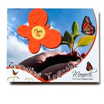 Seed Infused Note Cards, Butterfly, Lil' Bloomer 4 x 5