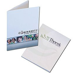 "Low Minimum Printed Presentation Folders, Two Pockets, 9"" x 12"""