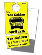 Campaign Door Hangers with Business Cards, 6-3/4