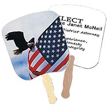 Patriotic Hand Fans, Eagle & Flag