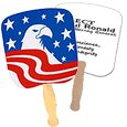 Patriotic Hand Fans, Bald Eagle