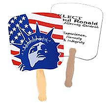 Patriotic Hand Fans, Lady Liberty