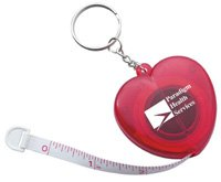 Key Chains, Heart Key Ring, Cloth Tape Measure
