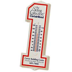 Recycled Number One Plastic Thermometers