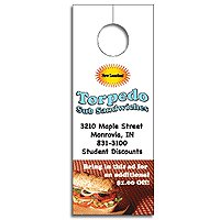 "Paper Door Hangers, Full Color Process,  3-1/8"" x 8-1/8"""