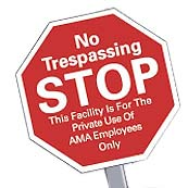 Security Yard Signs, Stop Sign, Outdoor Use
