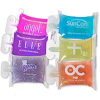Glitter Sunscreen Packets, Sungems, SPF 10