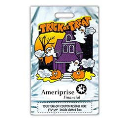 Halloween Bags, Metallic with Tear-Off Coupon, 11 x 18