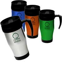Stainless Steel Travel Mugs, 16 oz.