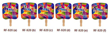 Assorted Stock Religious Hand Fans
