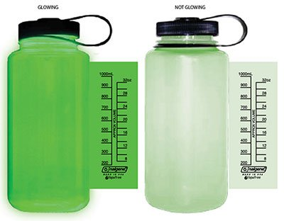 32 oz. Glow Wide Mouth Nalgene Water Bottles, BPA Free Tritan