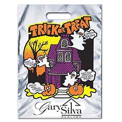 Halloween Bags, Metallic Haunted House, 11 x 15