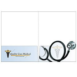 "Stethescope Presentation Folders, 9"" x 12"""