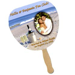 Palm Leaf Sandwiched Wedding Hand Fans