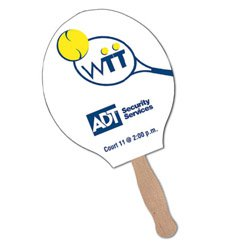 Sandwiched Tennis Racket Shaped Hand Fans