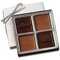Chocolates, 4-Piece Gift Box, 2.5 oz., Kosher
