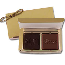 Chocolates, 2-Piece Gift Box, 1.25 oz., Kosher