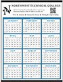 Blue Span-A-Year Calendars, Non-Laminated