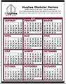 Big Numbers Span-A-Year Calendars, Non-Laminated