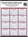 Red Span-A-Year Calendars, Non-Laminated