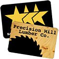 "3"" x 2"" Rectangle Shaped with Round Corners Hard Hat Decals"