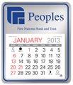 Easy Stick Pad Calendars