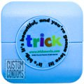 Custom Condoms® Brand Condom Compacts, Clear Label