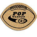 "Cork Coasters, 1/8"" Thick Football"