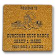 "Cork Coasters, 1/8"" Thick Square"