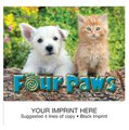 Mini Animal Calendars, Four Paws, 13 Month