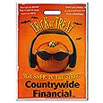 Halloween Bags, Full Color Pumpkin Stock Design, 11 x 15