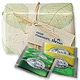 Organic Green Tea Sets, Seed Infused Gift Wrap