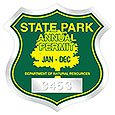 "Clear Parking Permit Decals, Badge Shaped, 2-3/4"" x 2-3/4"" with Consecutive Numbers"