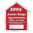 "Clear Parking Permit Decals, House Shaped, 2-3/4"" x 2-3/4"" with Consecutive Numbers"
