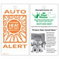 Auto Heat Alert Cards, Pet and Child Safety