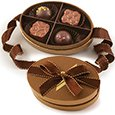 Premium Belgian Chocolate Truffles, Bronze 4 Piece Box