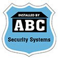"Security Decals, 3"" x 3"" Badge, White Vinyl"