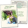 Save the Date Wedding Organic Lettuce Seed Packets